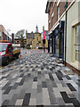 SJ3350 : Stylish paving in King Street, Wrexham by John S Turner