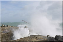SY6768 : Blow hole by the Red Crane, Portland Bill by sue hogben