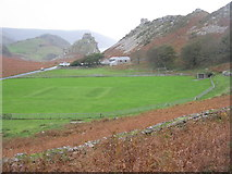 SS7049 : Cricket ground in The valley of Rocks by M J Richardson