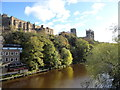 NZ2742 : View of Durham Cathedral and the riverbanks in autumn colours by Robert Graham