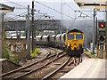 SD9851 : Freightliner through Skipton by Stephen Craven