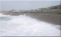 SY6873 : Stormy seas in Chesil Cove, Portland by sue hogben