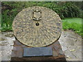 SS9046 : Millstone sundial at Piles Mill by M J Richardson