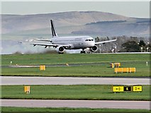 SJ8184 : Air France Jet Taking Off From Manchester Airport by David Dixon
