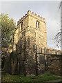 NZ2464 : St. Andrew's Church, Newgate Street, NE1 - tower by Mike Quinn