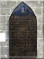 NZ2464 : St. Andrew's Church, Newgate Street, NE1 - bell-ringers' board, Baptistry by Mike Quinn