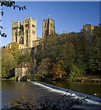 NZ2742 : Museum weir and Cathedral, Durham by Paul Harrop