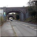 SS6593 : Road bridge over New Cut Road, Swansea by Jaggery