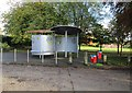 SO8887 : King George V Park - shelter & dog waste bins, Lawnswood Road, Wordsley, Stourbridge by P L Chadwick