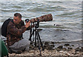 TL1568 : Photographing a Sabine's Gull, Grafham Water by Hugh Venables