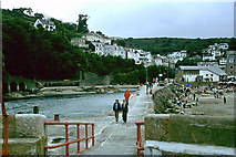SX2553 : Looe from the end of the breakwater, 1979 by Robin Webster