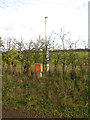 TG1228 : Gas pipeline marker beside Spink's Lane by Evelyn Simak