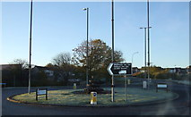 NJ8813 : Roundabout on the A947 by JThomas