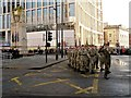 SJ8397 : Remembrance Day Parade, St Peter's Square by David Dixon
