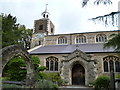 TQ2075 : St Mary's church, Mortlake by Dave Kelly