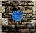 SS6693 : Sir Harry Secombe C.B.E blue plaque on the Parish Church of St Thomas, Swansea by Jaggery