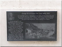 SZ0890 : Bournemouth: Diamond Jubilee Plaque (2) by Chris Downer
