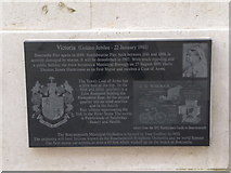SZ0890 : Bournemouth: Diamond Jubilee Plaque (8) by Chris Downer
