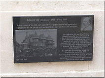 SZ0890 : Bournemouth: Diamond Jubilee Plaque (9) by Chris Downer