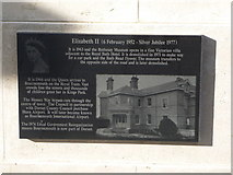 SZ0890 : Bournemouth: Diamond Jubilee Plaque (13) by Chris Downer