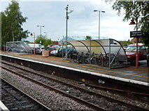 SP1955 : Cycle racks in Stratford-upon-Avon railway station by Jaggery