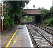 SP1955 : Alcester Road bridge viewed from Stratford-upon-Avon railway station by Jaggery