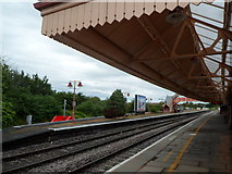 SP1955 : Under the canopy at Stratford-upon-Avon railway station by Jaggery