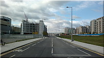 TQ3884 : View along International Way from the traffic lights at the junction with Montfichet Road by Robert Lamb