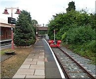 SP1955 : Red buffer stop at the end of platform 3 at Stratford-upon-Avon railway station by Jaggery