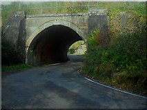 TQ3853 : Bridge 515 carrying the Oxted line railway by Ed of the South