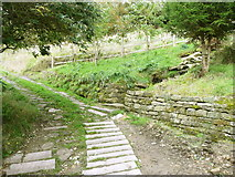 SE0023 : Junction of Hebden Royd FPs 91 (north branch) and 105 by Humphrey Bolton