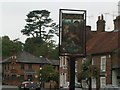 SU9993 : Sign for Chalfont St Giles, Buckinghamshire by Peter S