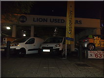 TQ1978 : Lion used cars, Chiswick Roundabout by David Howard