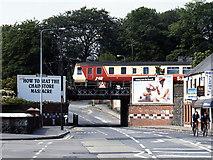 J2664 : Train crossing Antrim Street bridge, Lisburn - 1990 by The Carlisle Kid