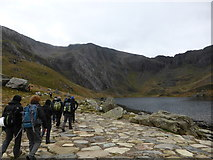 SH6459 : In Cwm Idwal in November by Jeremy Bolwell