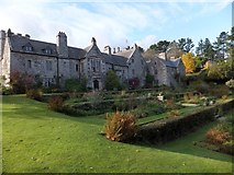 SX4268 : The east front and terraces of Cotehele House by David Smith