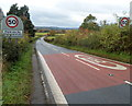ST7592 : End of the 30mph zone through Wotton-under-Edge by Jaggery