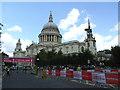 TQ3281 : Cycling festival outside Saint Paul's  by Stephen Craven