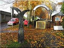 H4573 : Leafy entrance, Grange Park, Omagh by Kenneth  Allen