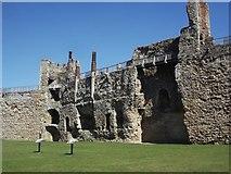 TM2863 : Framlingham Castle Battlements and Chimneys by Nick Beale