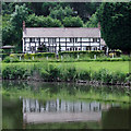 SO8163 : Large riverside residence south-east of Shrawley, Worcestershire by Roger  Kidd