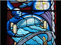 NZ2463 : St. Mary's Cathedral, Clayton Street West, NE1 - stained glass window (detail) by Mike Quinn
