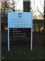 TM2460 : Brandeston Hall sign by Adrian Cable