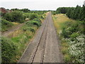 SO9946 : Fladbury railway station (site), Worcestershire by Nigel Thompson