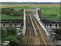 TG4201 : Reedham Railway Swing Bridge over R Yare by Colin Park