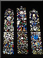 NZ2464 : The Church of St. John the Baptist, Grainger Street, NE1 - stained glass window by Mike Quinn