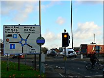 SU1584 : Entrance to the Magic Roundabout, County Road, Swindon by Brian Robert Marshall