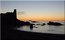 NS2515 : Dunure Castle Sunset by Mary and Angus Hogg