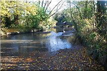 SP0979 : Ford on Scribers Lane at Yardley Wood by John Walton