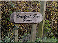 TM2459 : Chestnut Tree Farm sign by Adrian Cable
